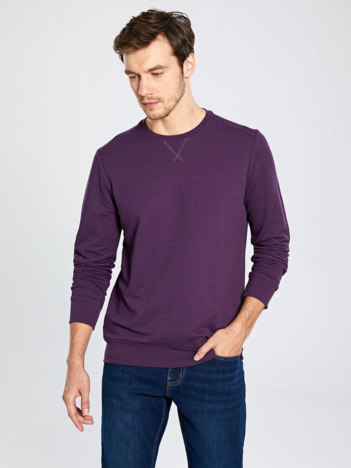 Bisiklet Yaka Basic Sweatshirt - LC WAIKIKI