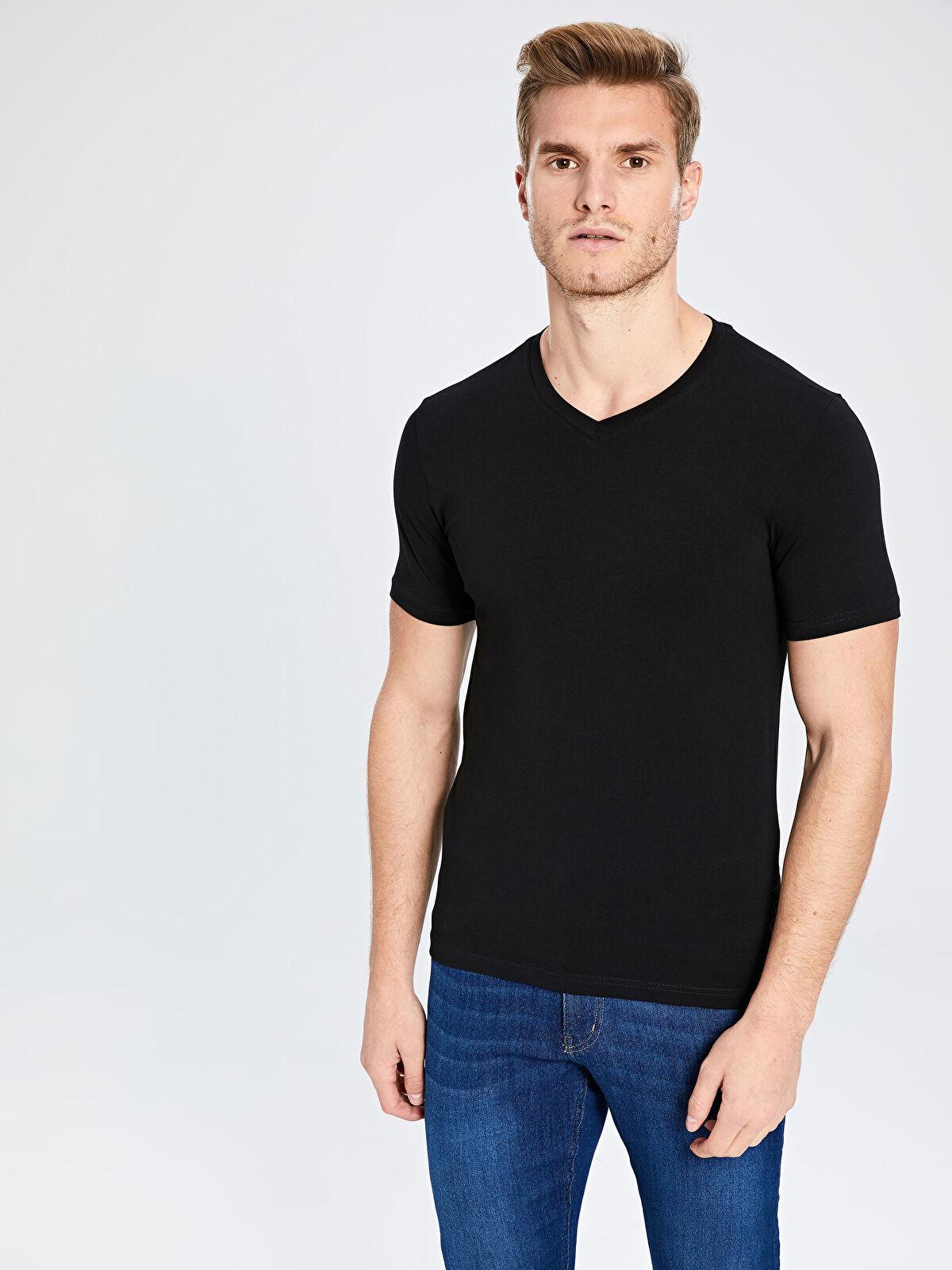 V Yaka Basic Tişört - LC WAIKIKI