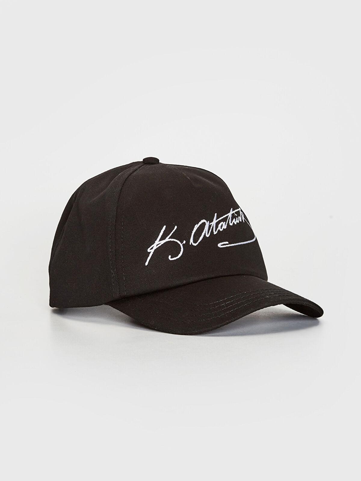 Atatürk İmza Nakışlı Şapka - LC WAIKIKI