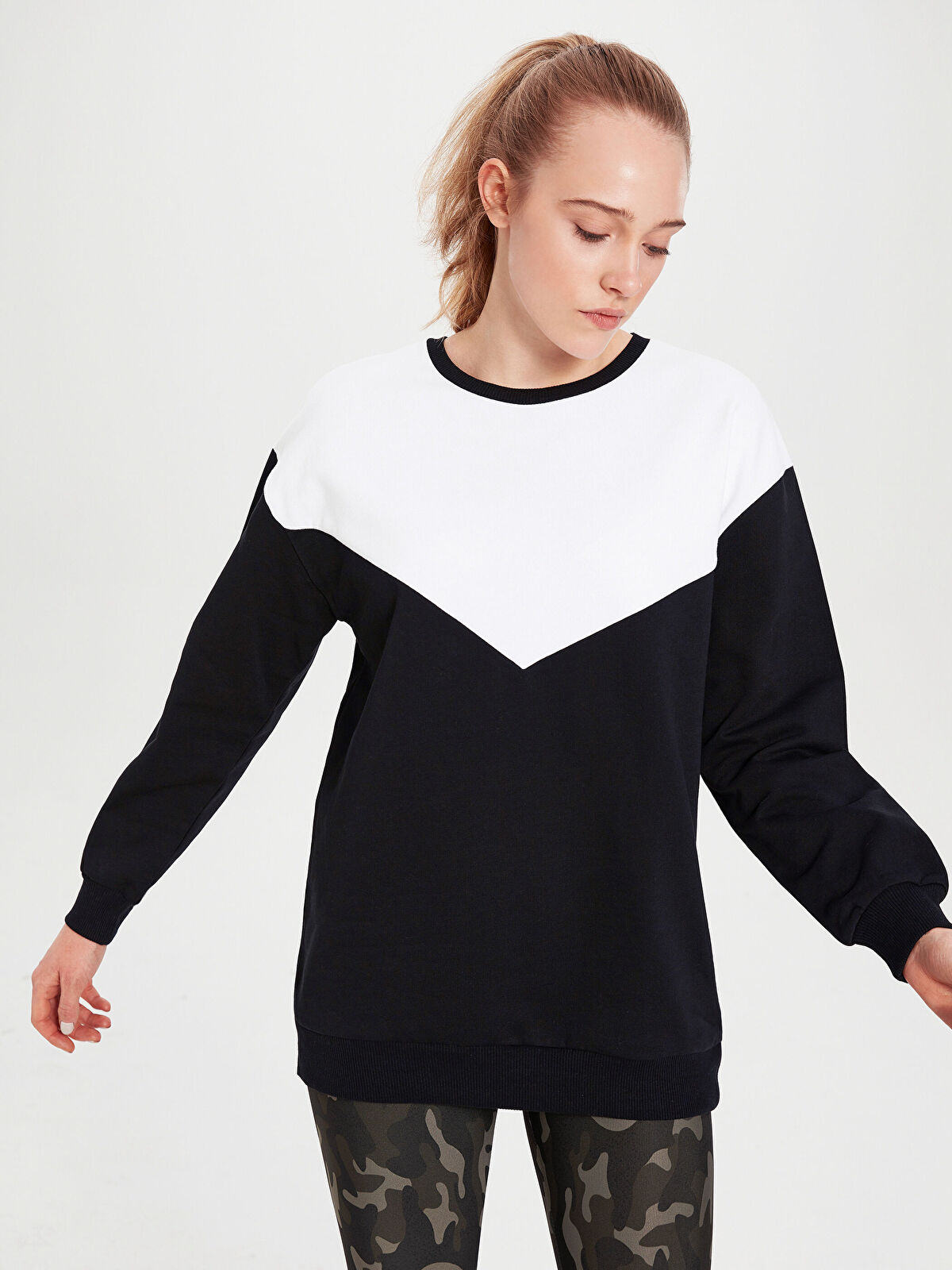 Aktif Spor Renk Bloklu Sweatshirt - LC WAIKIKI