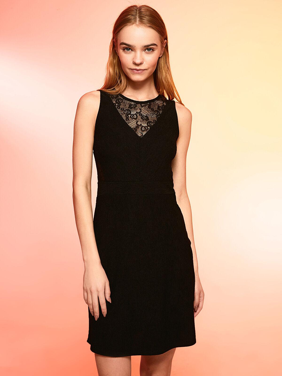 Dantel Detaylı Slim Elbise - LC WAIKIKI