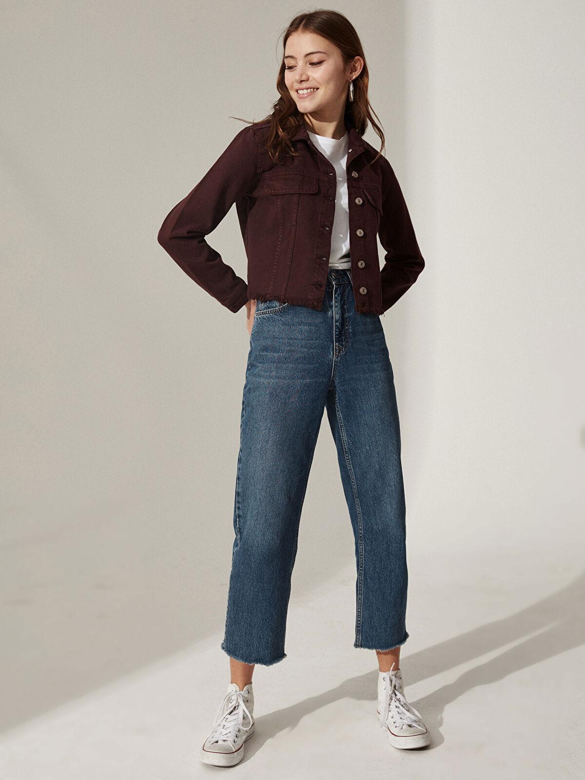 LC WAIKIKI Kadın Kısa Jean Ceket