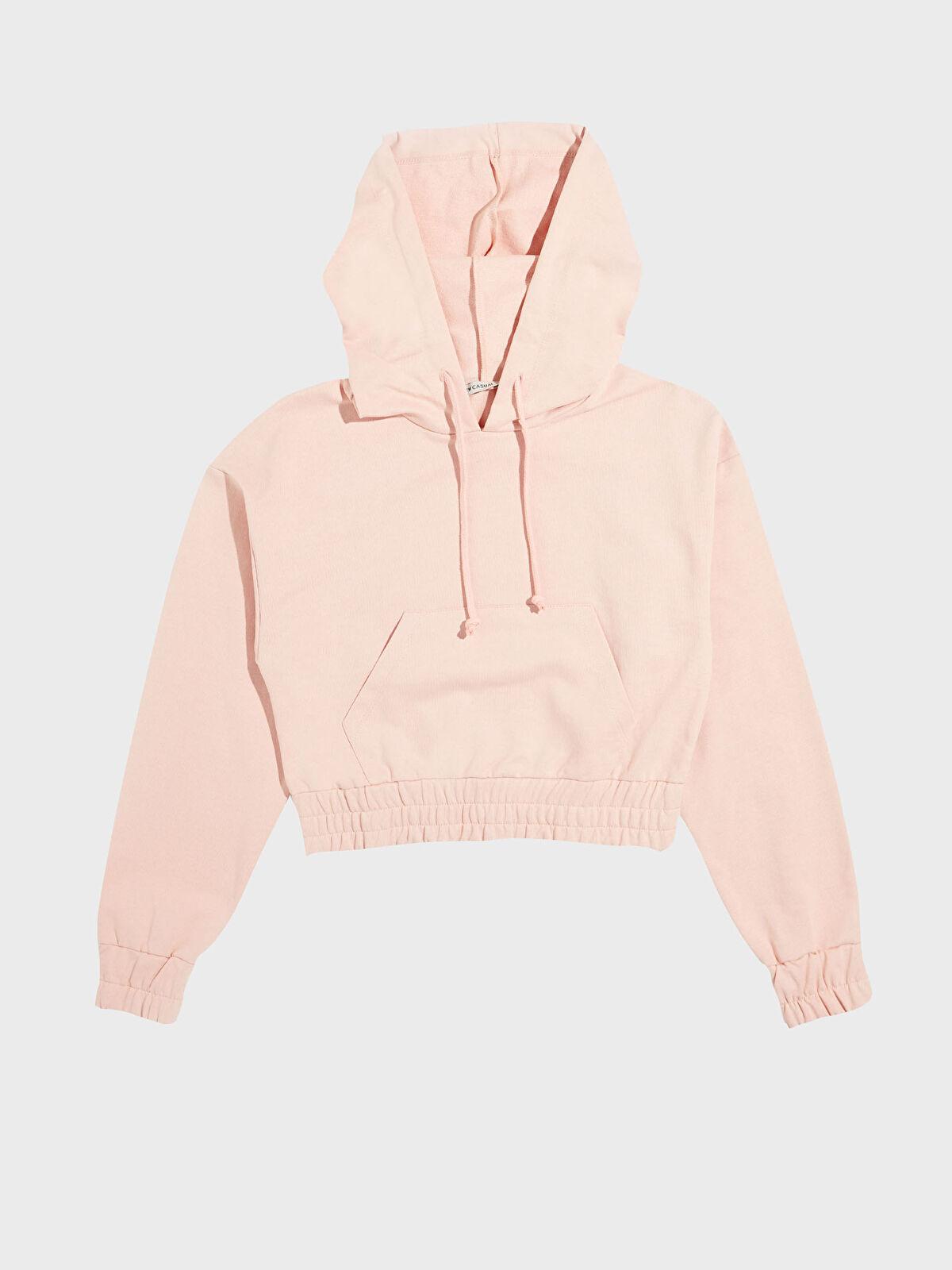 Kapüşonlu Crop Sweatshirt - LC WAIKIKI