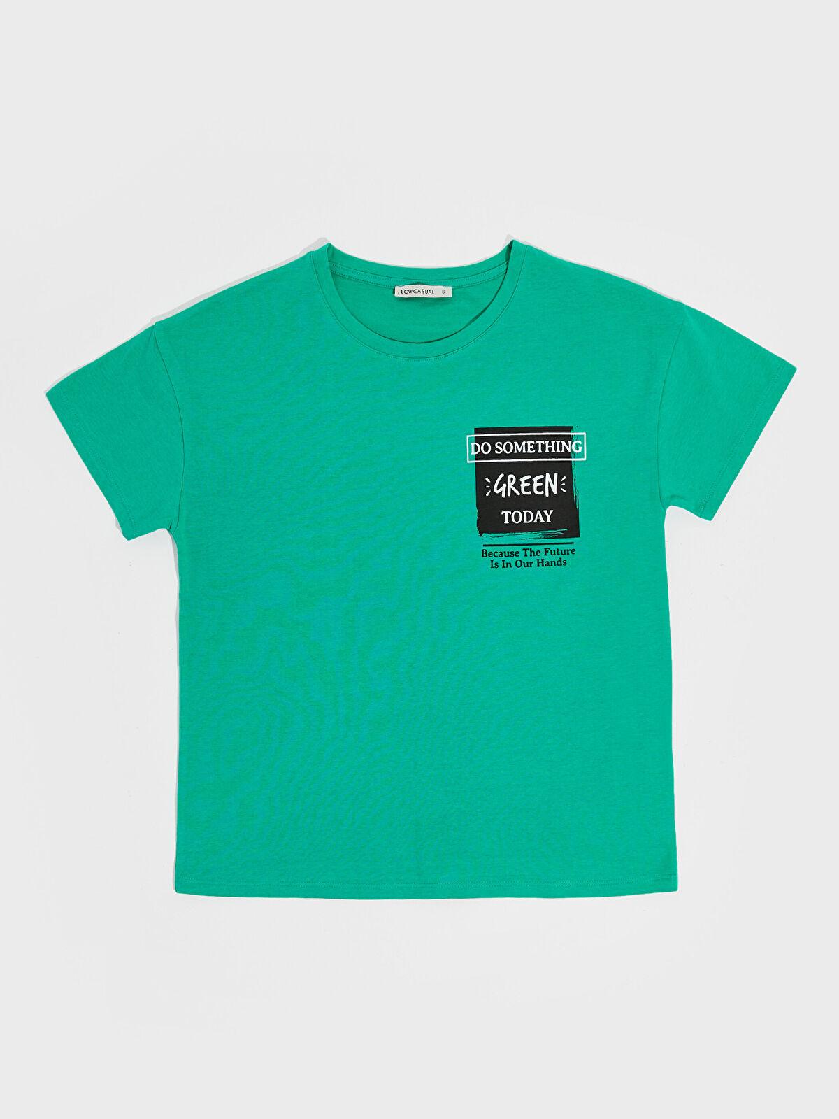 Yazı Baskılı Tişört - LC WAIKIKI