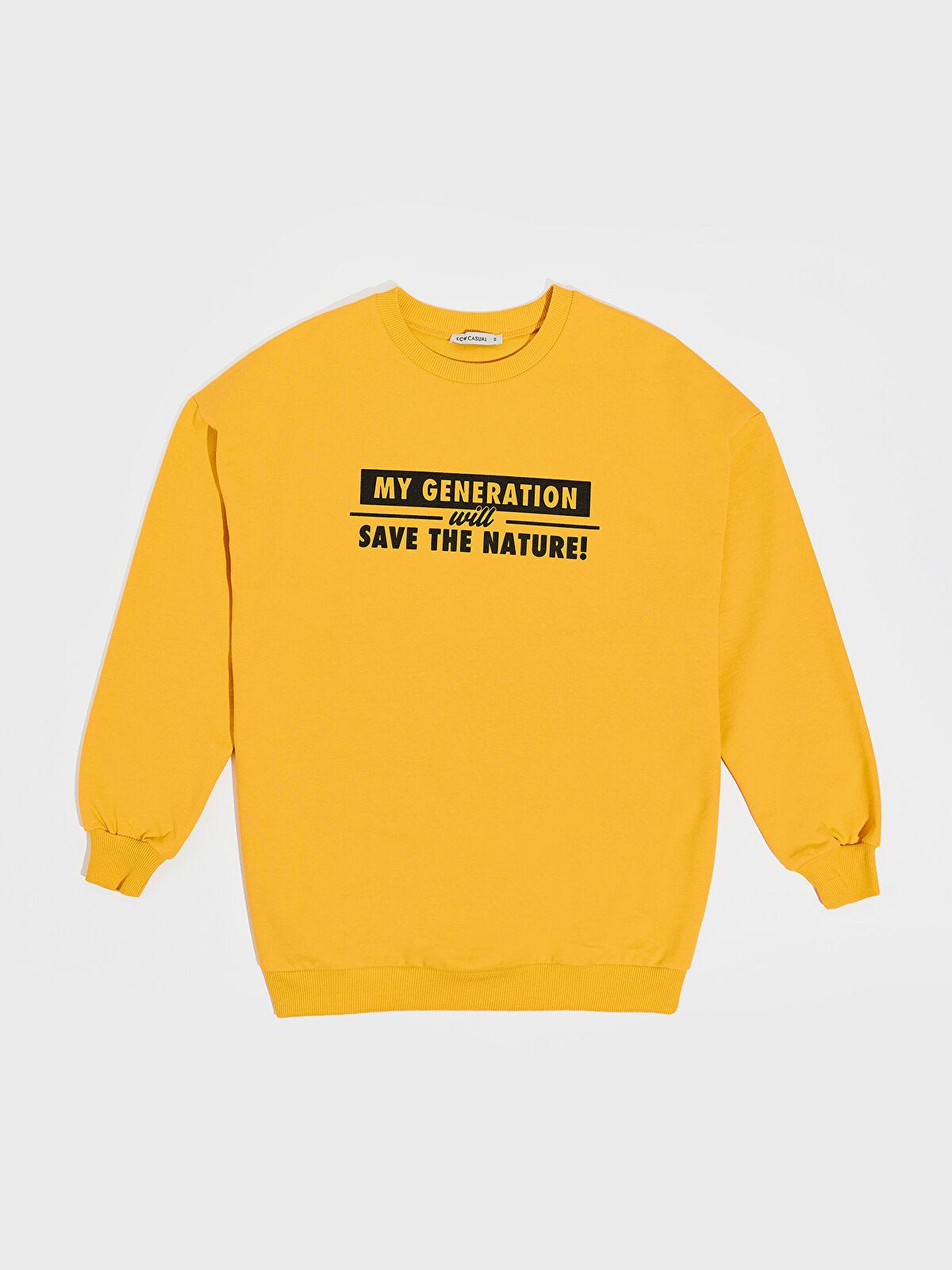 Baskılı Salaş Sweatshirt - LC WAIKIKI