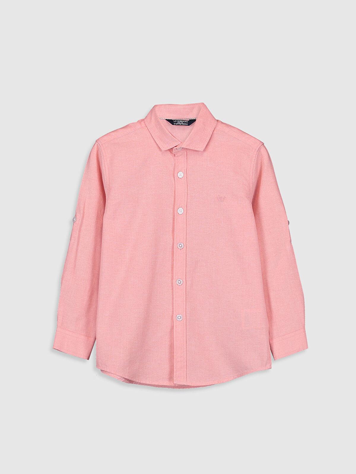 Erkek Çocuk Uzun Kollu Oxford Gömlek - LC WAIKIKI