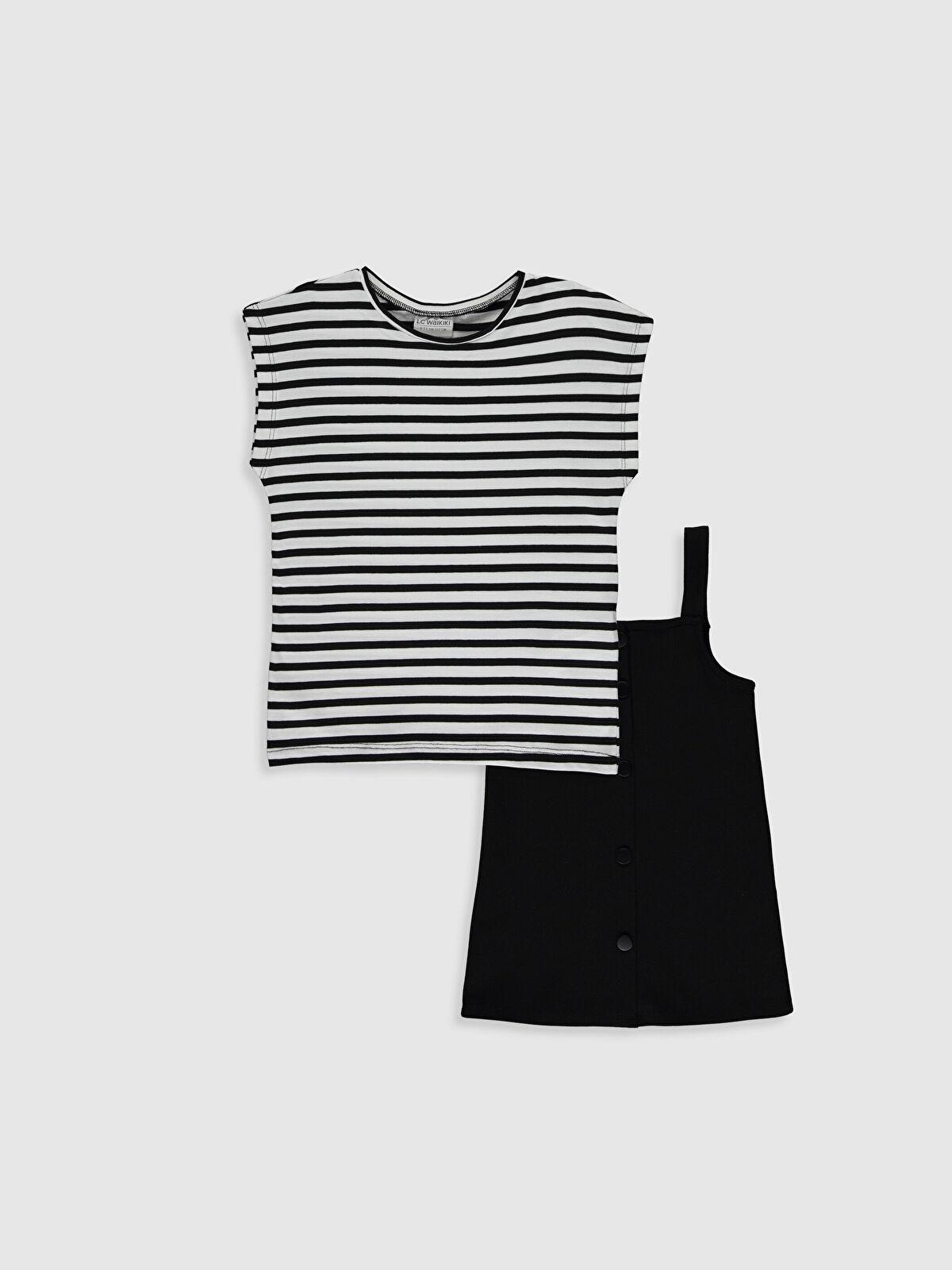 Kız Çocuk Pamuklu Elbise ve Tişört - LC WAIKIKI