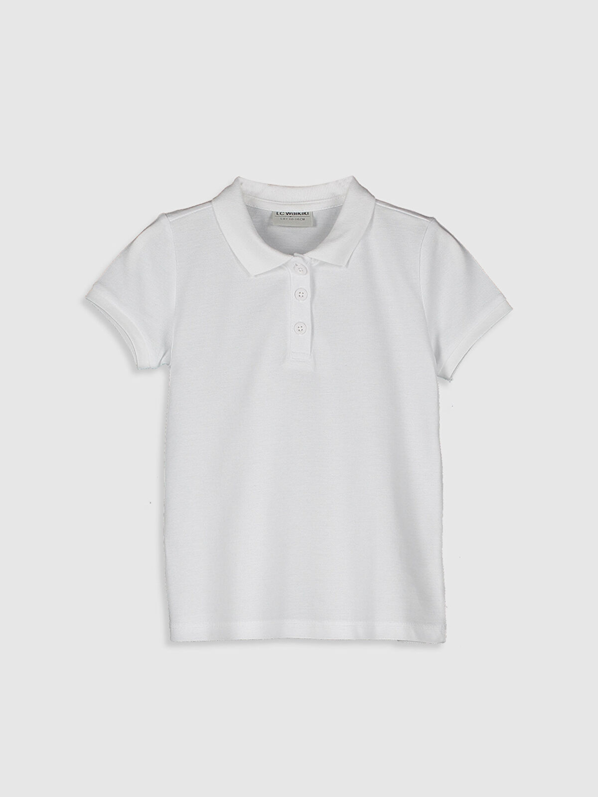 Kız Çocuk Polo Yaka Basic Tişört - LC WAIKIKI