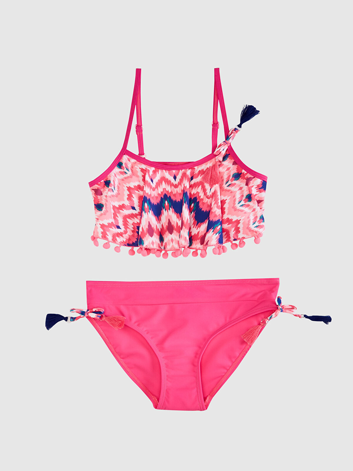 Kız Çocuk Ponpon Detaylı Bikini - LC WAIKIKI