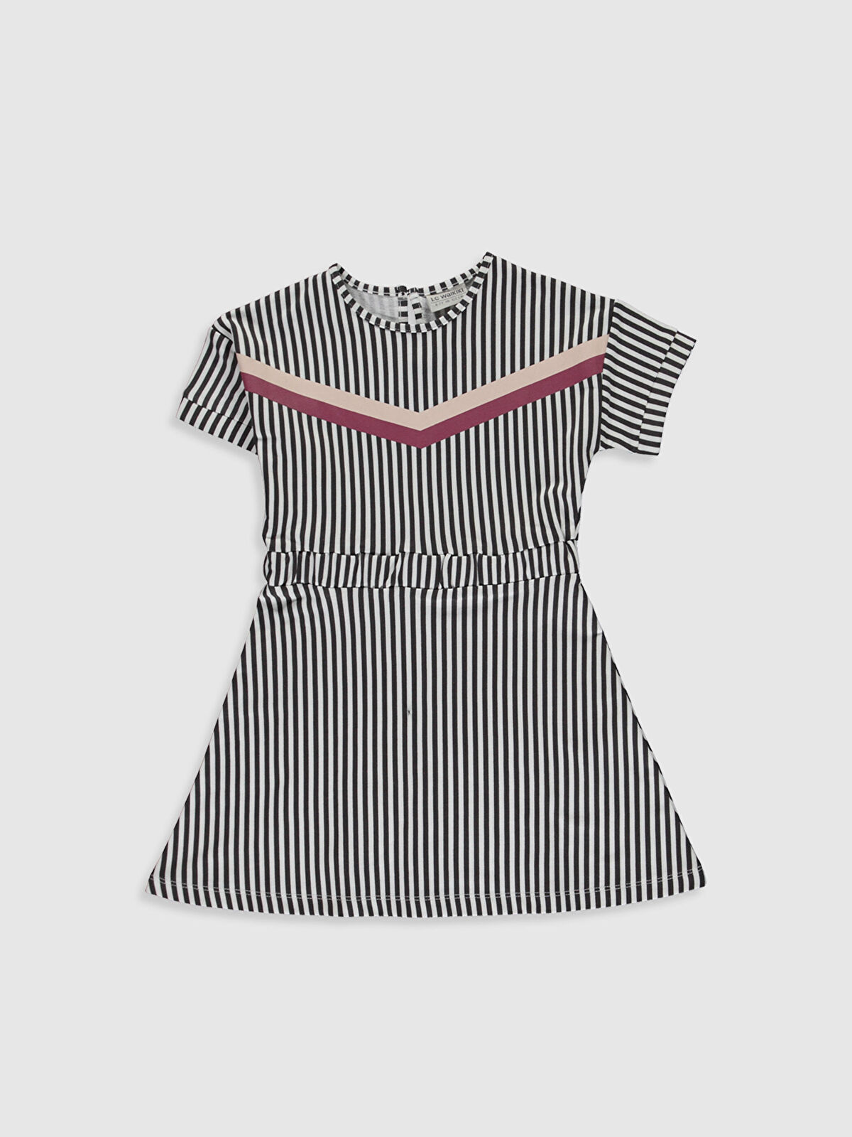 Kız Çocuk Çizgili Pamuklu Elbise - LC WAIKIKI