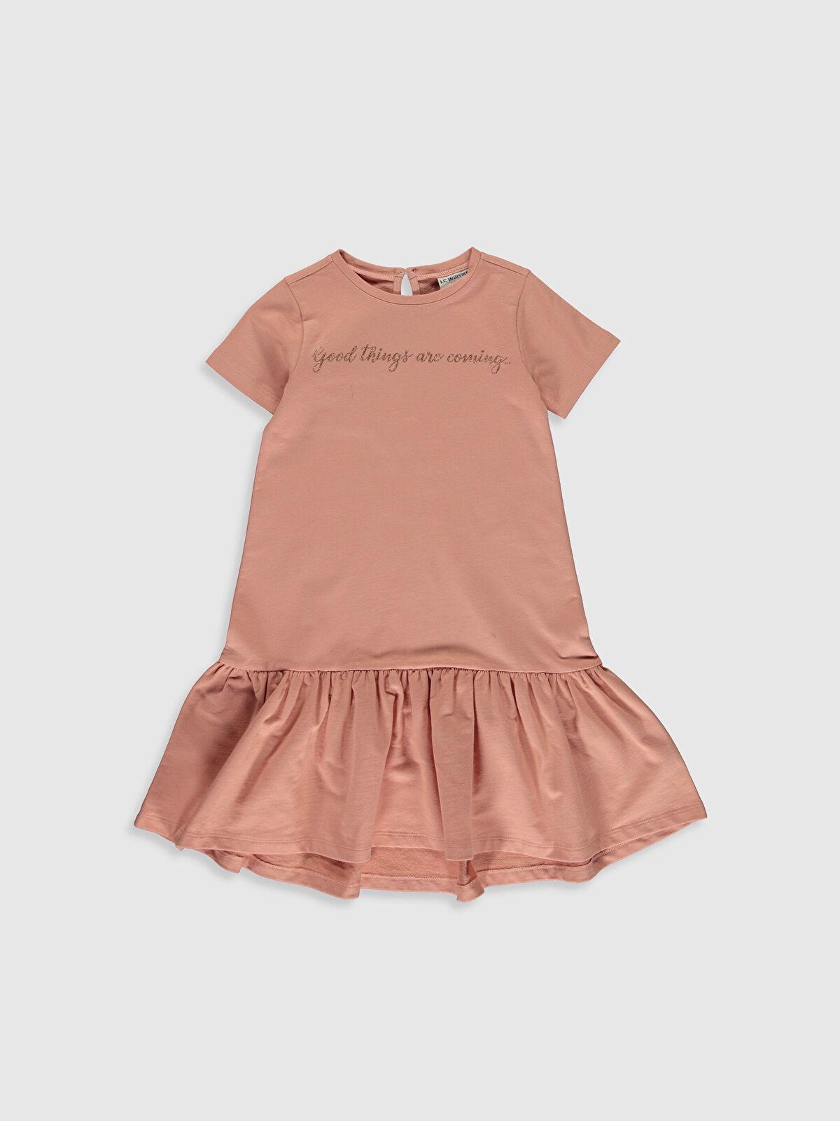 Kız Çocuk Fırfır Detaylı Pamuklu Elbise - LC WAIKIKI