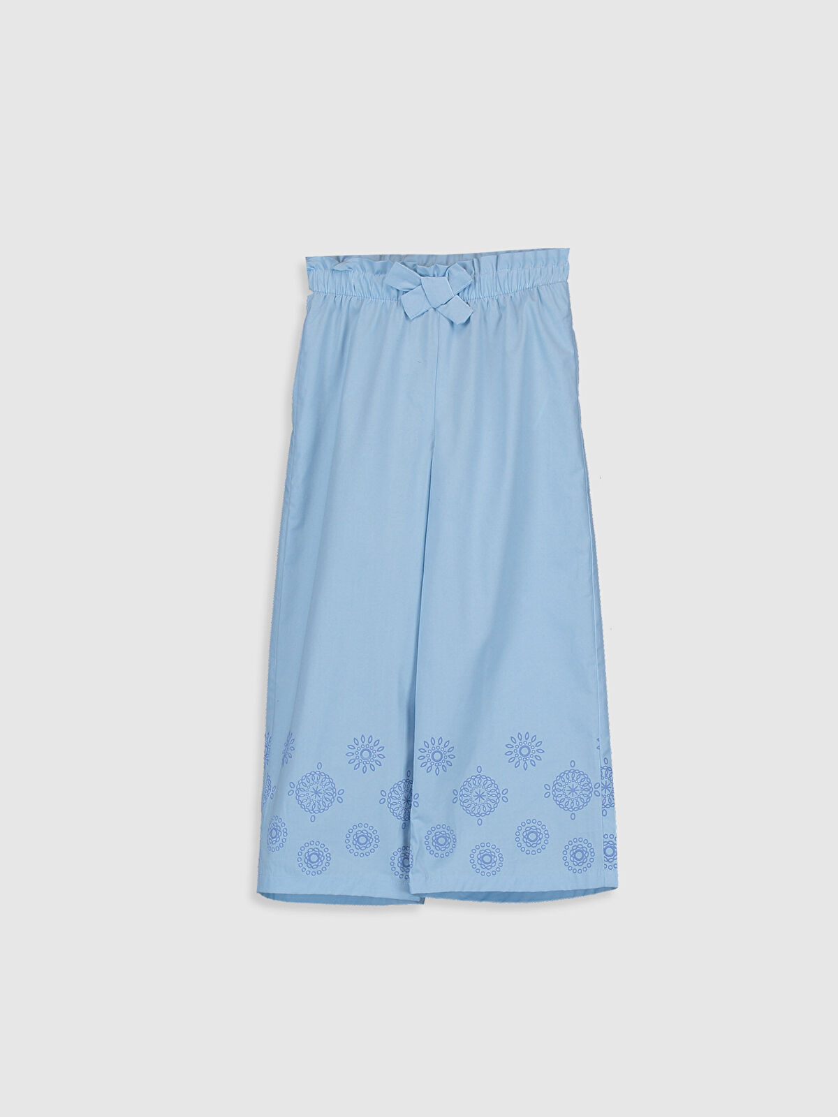 Kız Çocuk Nakışlı Pamuklu Pantolon - LC WAIKIKI