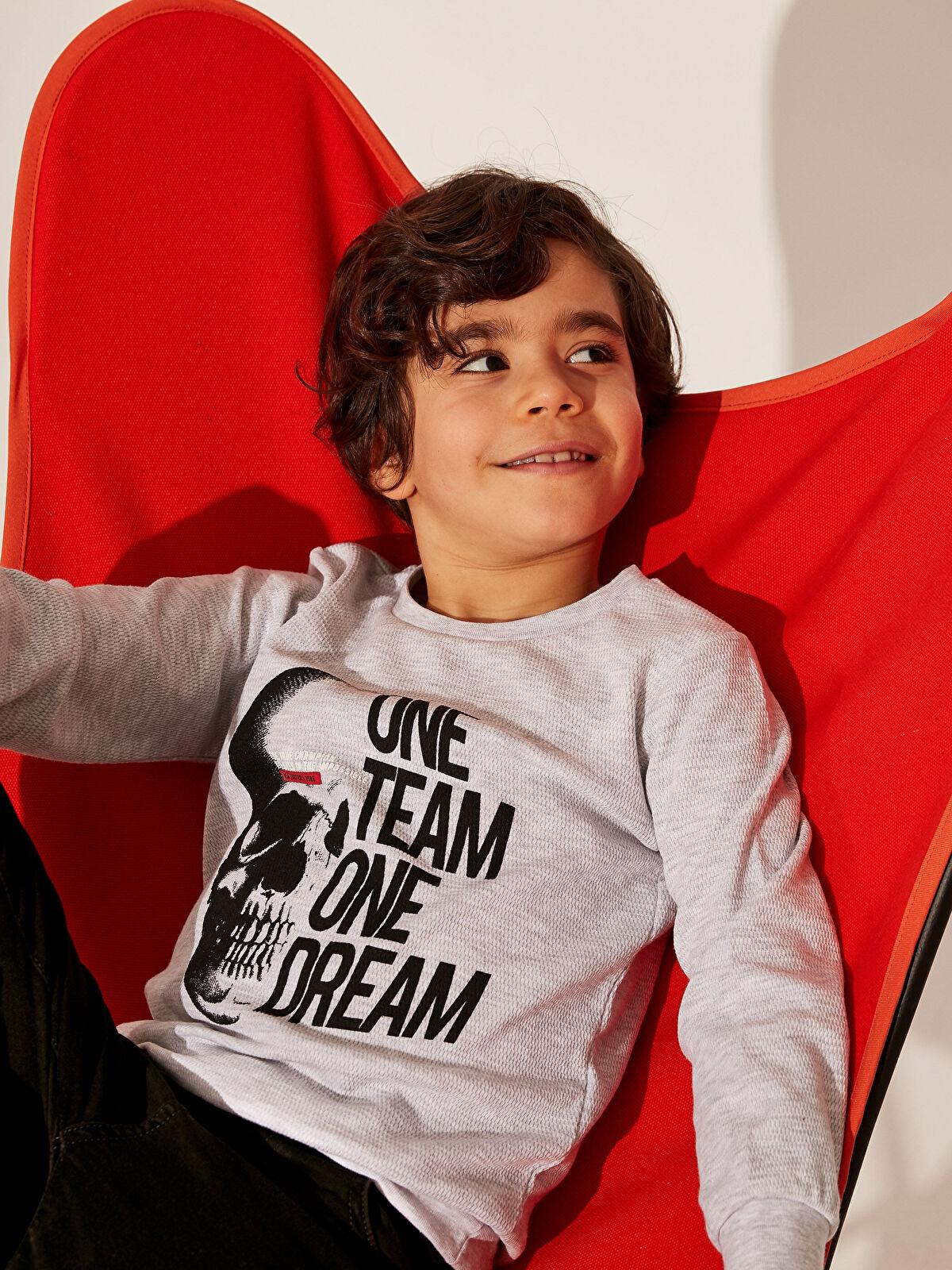 Erkek Çocuk Baskılı Uzun Kollu Tişört - LC WAIKIKI