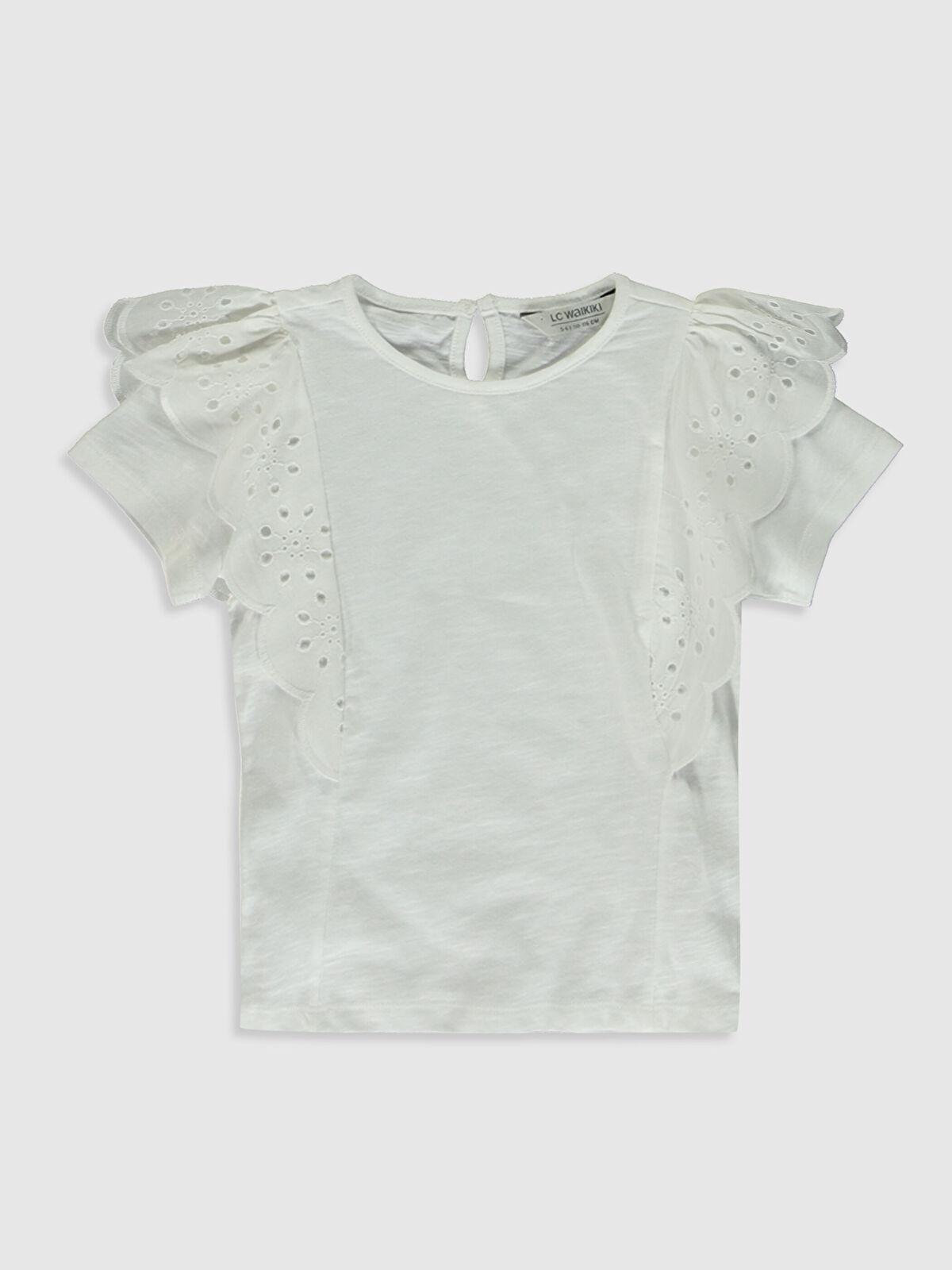 Kız Çocuk Fisto Detaylı Pamuklu Basic Tişört - LC WAIKIKI