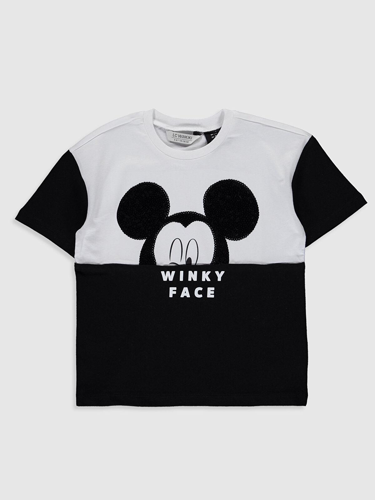 Kız Çocuk Mickey Mouse Pamuklu Tişört - LC WAIKIKI