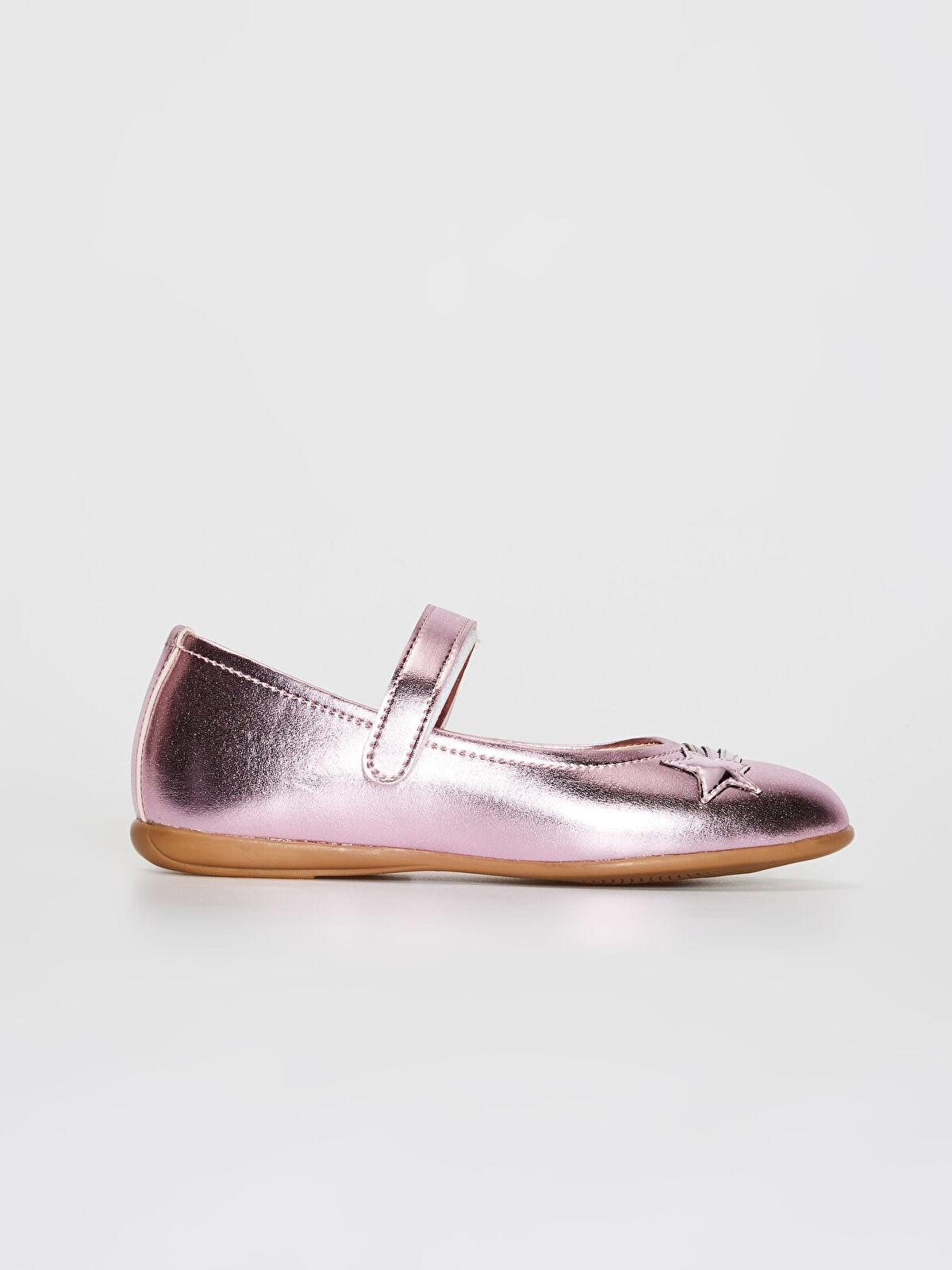 Kız Çocuk Parlak Görünümlü Babet Ayakkabı - LC WAIKIKI