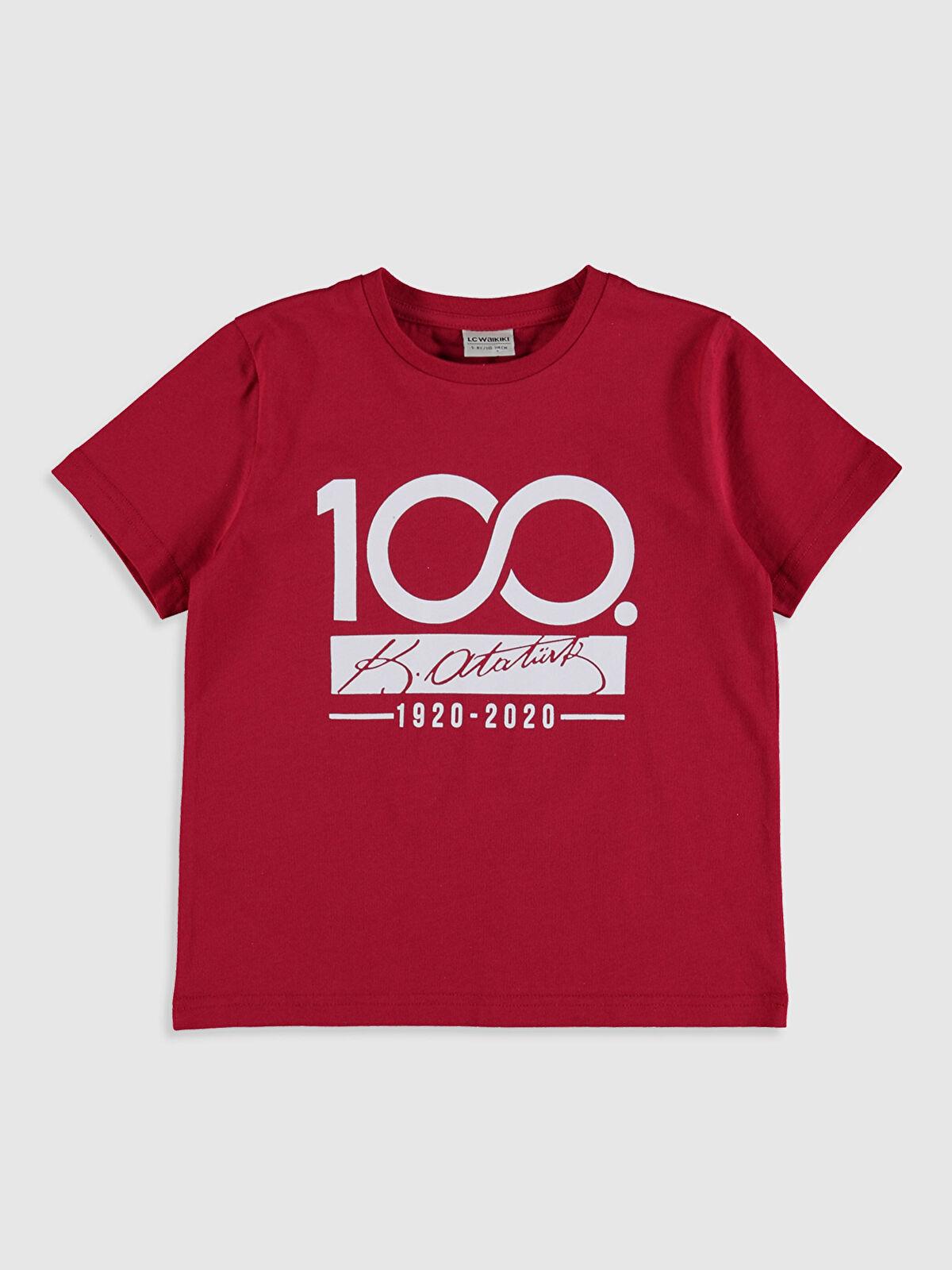 Erkek Çocuk Atatürk İmzalı Pamuklu Tişört - LC WAIKIKI