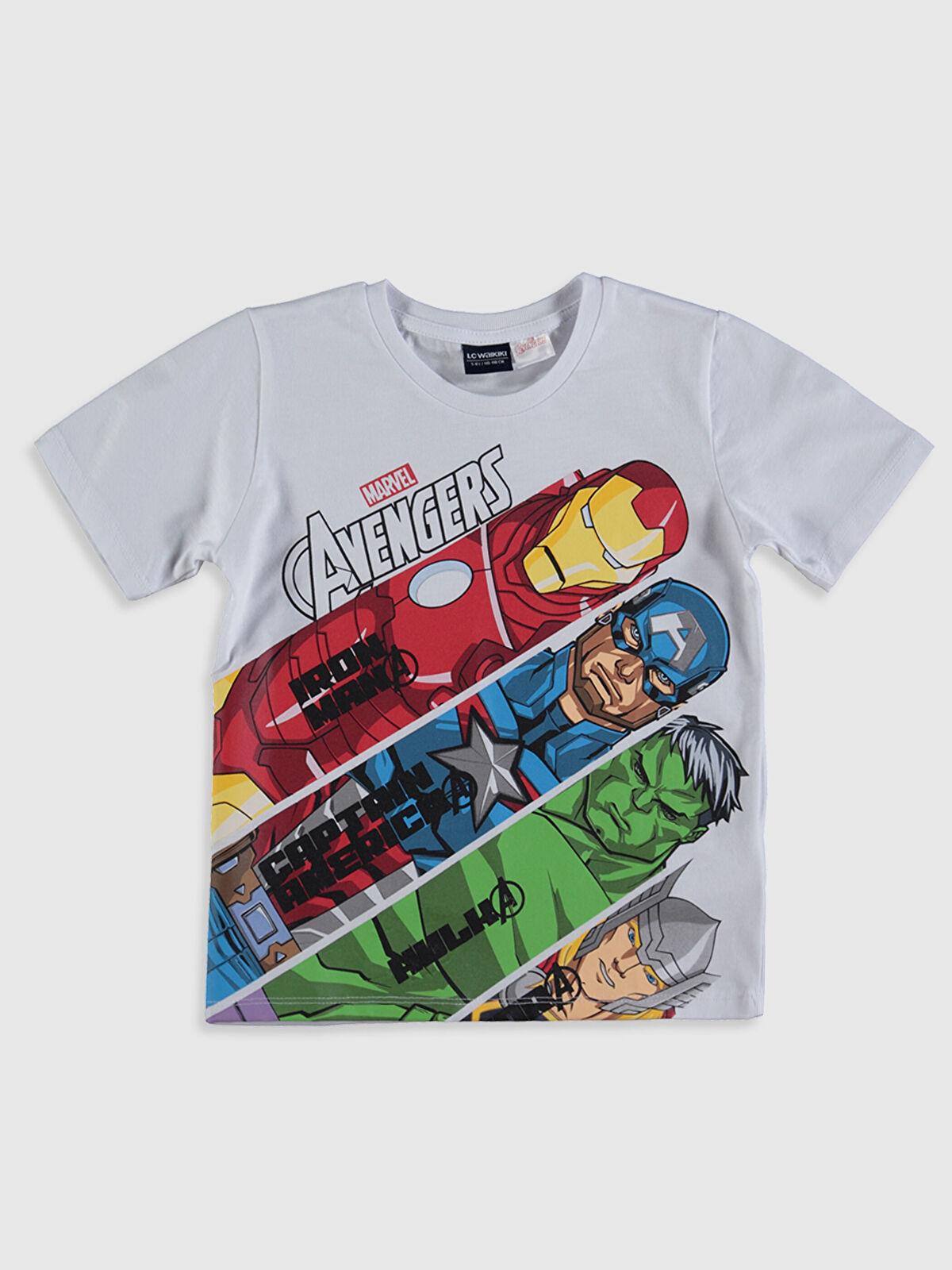 Erkek Çocuk Avengers Baskılı Pamuklu Tişört - LC WAIKIKI