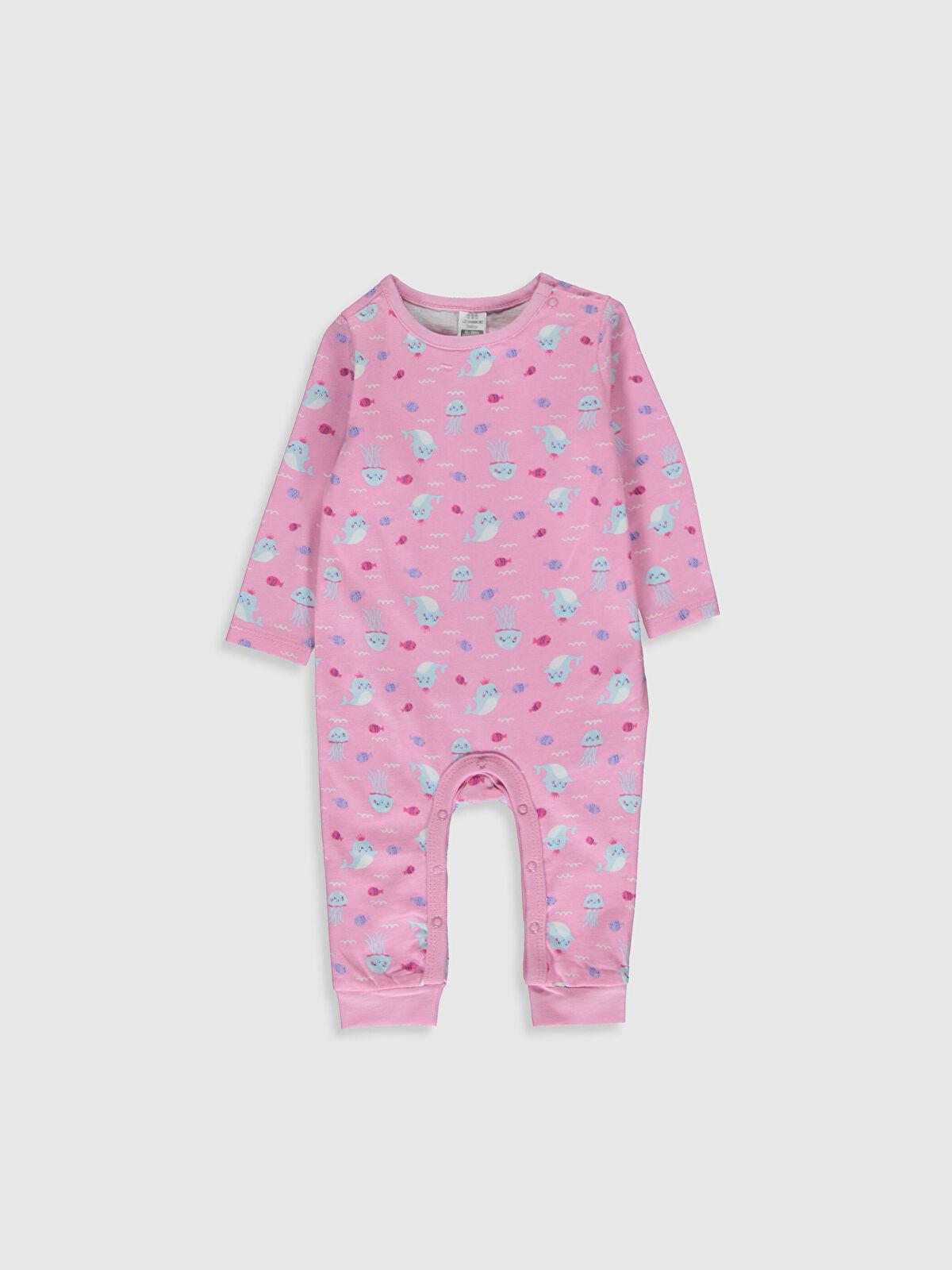 Kız Bebek Desenli Pamuklu Tulum - LC WAIKIKI