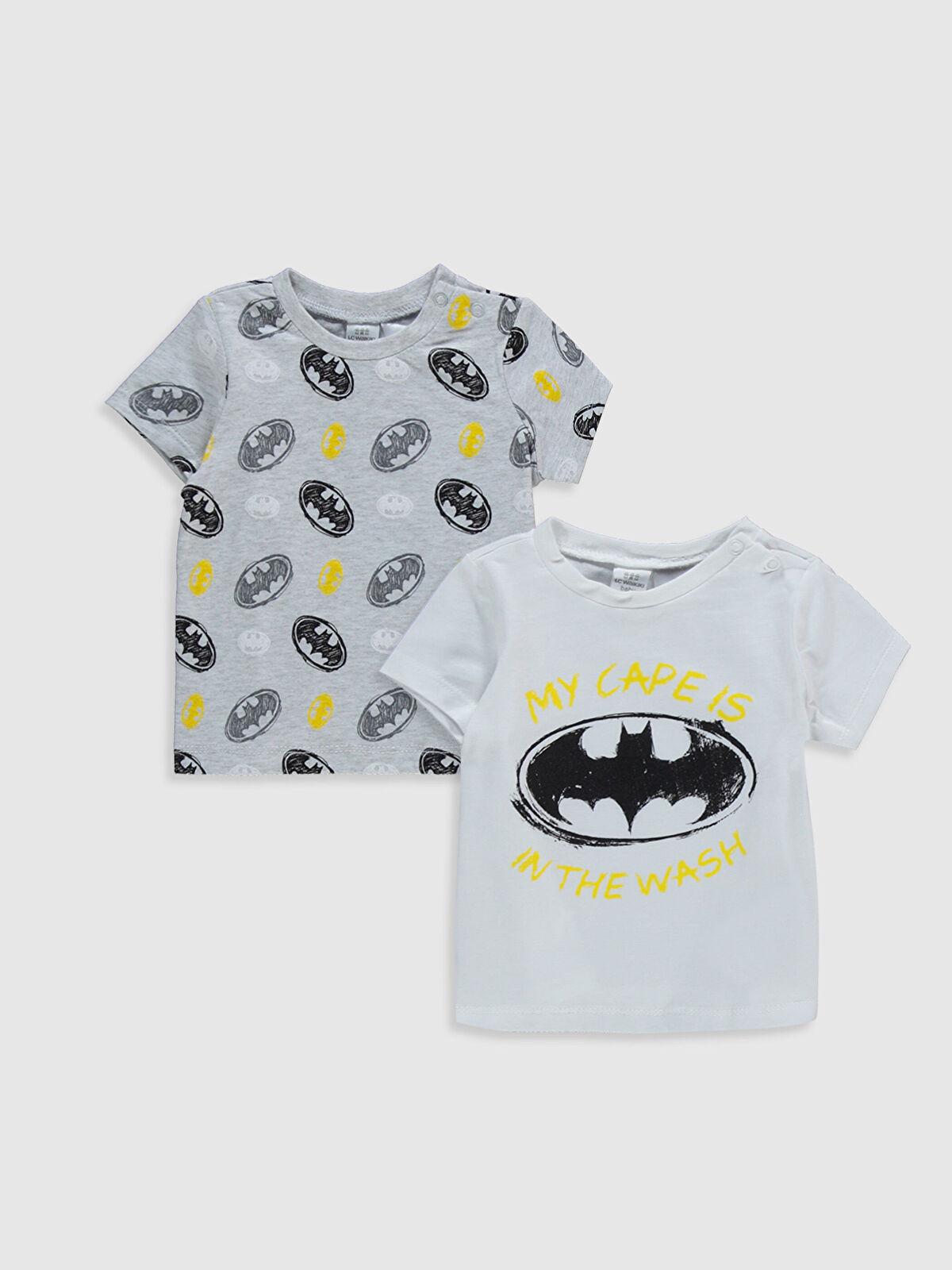 Erkek Bebek Batman Baskılı Tişört 2'li - LC WAIKIKI