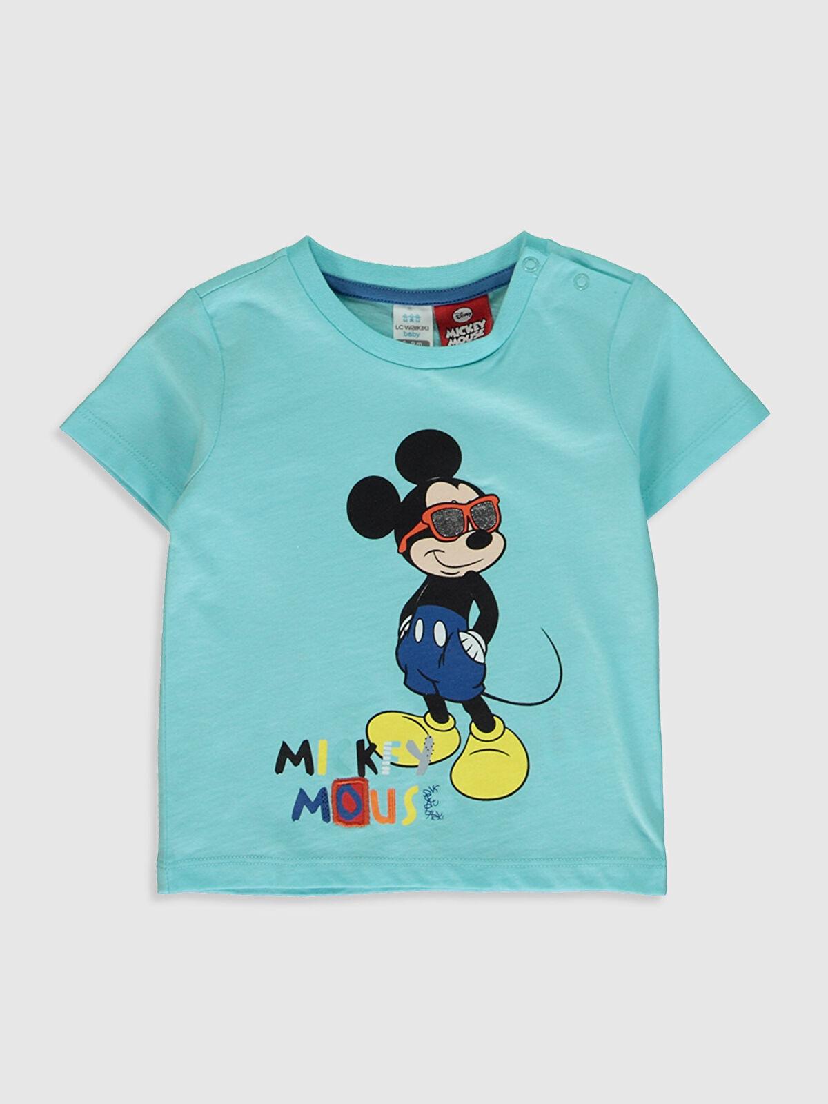 Erkek Bebek Mickey Mouse Baskılı Pamuklu Tişört - LC WAIKIKI