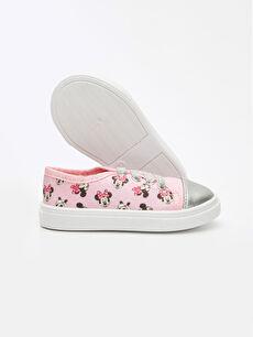 Pembe Kız Bebek Minnie Mouse Baskılı Ayakkabı