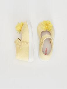 Kız Bebek Cırt Cırtlı Bez Babet Ayakkabı