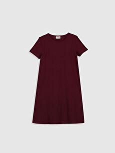 Bordo Kız Çocuk Basic Elbise 0SB762Z4 LC Waikiki