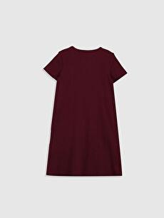 %98 Pamuk %2 Elastan Düz Elbise Kız Çocuk Basic Elbise