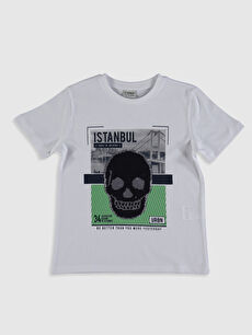 Erkek Çocuk İstanbul Baskılı Payetli Tişört