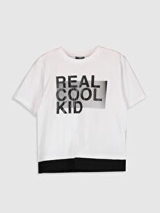 Erkek Çocuk Aile Koleksiyonu Yazı Baskılı Tişört