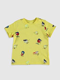 Erkek Bebek Baskılı Pamuklu Tişört