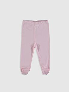 Kız Bebek Pamuklu Patikli Pantolon