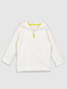 Erkek Bebek Fermuarlı Kapüşonlu Sweatshirt