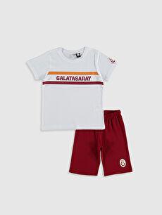 Erkek Çocuk Galatasaray Amblemli Pamuklu Pijama Takımı