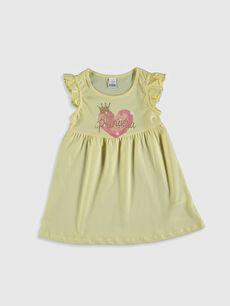 Kız Bebek Baskılı Pamuklu Elbise