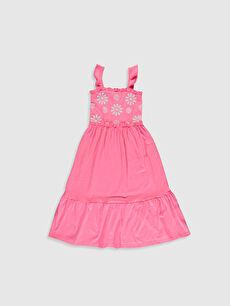 Kız Çocuk Çiçek Baskılı Elbise