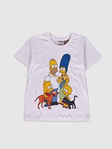 Erkek Çocuk Simpson Baskılı Tişört