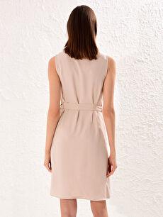 Kadın Kuşaklı Viskon Elbise