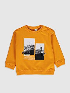 Erkek Bebek Baskılı Sweatshirt