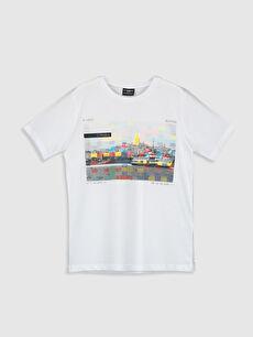 Erkek Çocuk İstanbul Temalı Pamuklu Tişört
