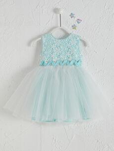 Daisy Girl Kız Bebek Desenli Abiye Elbise