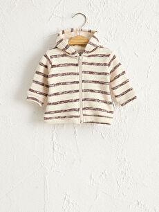 Antebies Organik Pamuklu Erkek Bebek Fermuarlı Sweatshirt