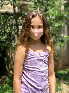 8-14 Yaş Kız Çocuk Yıkanabilir Yüz Maskesi 2'Li