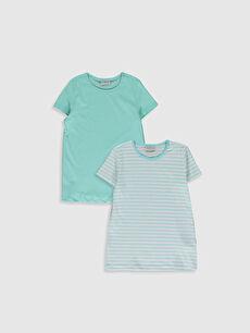 Kız Çocuk Pamuklu Tişört 2'Li