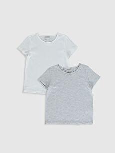 Kız Çocuk Pamuklu Basic Tişört 2'Li