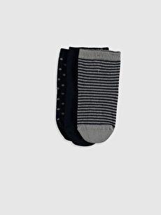Antebies Organik Pamuklu Erkek Bebek Soket Çorap 3'Lü