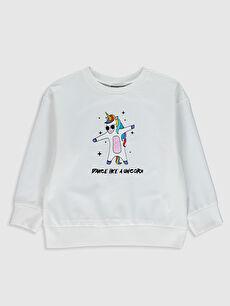 Kız Çocuk Baskılı Sweatshirt