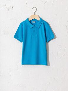 Erkek Çocuk Polo Yaka Pamuklu Basic Tişört