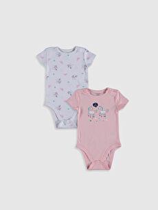 Kız Bebek Pamuklu Çıtçıtlı Body 2'li
